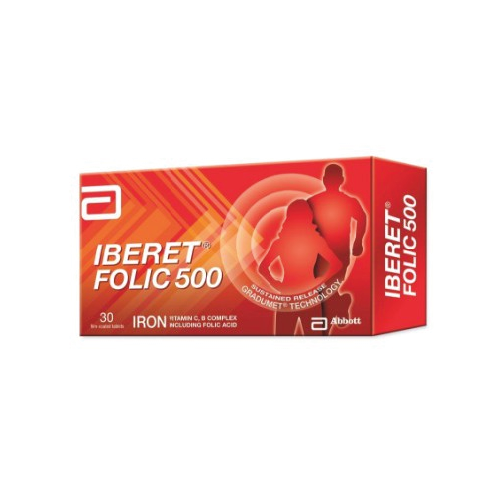 Iberet Folic Acid 500 Tablet